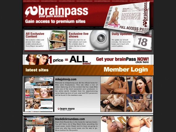 Brainpass Sign Up Page