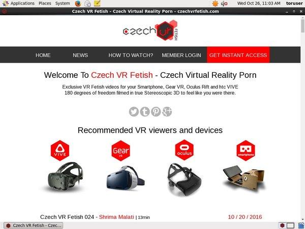 Czech VR Fetish 注册帐号