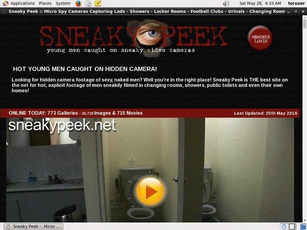 Sneaky Peek Passwords Accounts