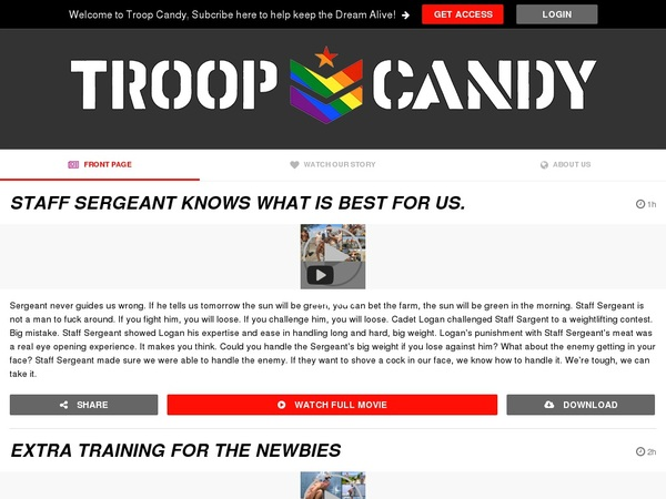 Free Account Premium Troop Candy