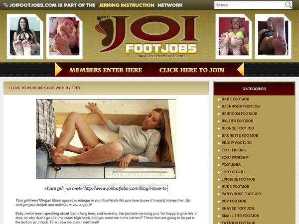 Login For JOI Footjobs